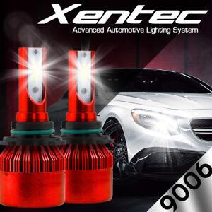 Car 9006 HB4 LED Headlight Bulbs Conversion Kit Fog Light 6000K 8000LM Canbus
