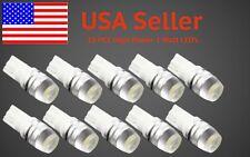 10pcs T10 Wedge High Power 1W LED Light Bulbs Xenon White 192 168 194 921 Bright