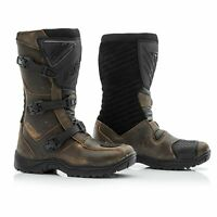 RST Raid Touring Adventure CE Leather Waterproof Motorcycle Boots - Brown