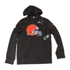 7d89d6dbc NWT NEW Cleveland Browns Nike Men s Performance Pullover Hoodie Sweatshirt  Small
