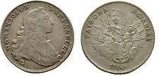 Rare 1754 Bavaria Germany Silver 1/2 Convention Thaler- Maximiian/Madonna-Nice