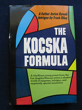 THE KOCSKA FORMULA - SIGNED by FRANK RILEY to Fellow Author WAYNE WARGA 1st Ed.