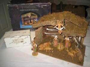 "Vintage Fontanini Signed Italy Italian Nativity Creche Set 5"" 10pc 54513"