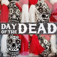 DAY OF THE DEAD Sugar Skull Garland Halloween Goth Skulls Dia De Los Muertos NEW