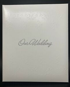 VTG C.R. Gibson OUR WEDDING Loose Leaf Album Trousseau W-08 White 21-81