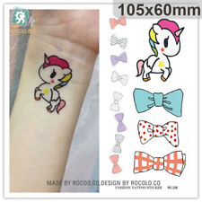 Temporary Tattoo Waterproof Unicorn and bowknot Arm Leg Art Stickers Removable