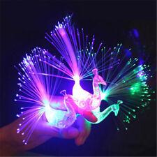Novelty Creative LED Flash Peacock Finger Lights Kids Luminous Rings Gift ToysFL