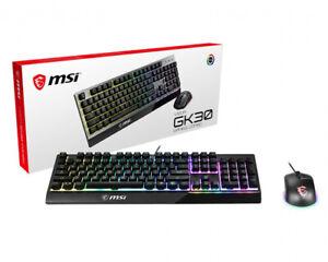 Gaming Keyboard inkl. Maus MSI Vigor GK-30 Combo, USB, mehrfarbig beleuchtet.
