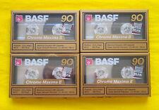 4x BASF Chrome Maxima II 90 Cassette Tapes 1989 + OVP + SEALED +