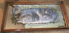 Pabst Blue Ribbon 1990 Timber Wolves Beer Mirror Bar Sign Wild Life Collection