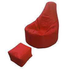 Large Bean Bag Footstool Gamer Beanbag Adult Outdoor Gaming Garden Big Arm Chair Red