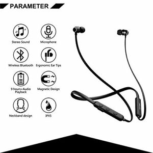 Sweatproof Wireless Sport Bluetooth Earphones Headphones Gym UK
