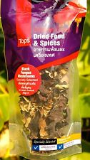 DRIED BLACK FUNGUS MUSHROOMS - THAI WOOD EAR MUSHROOM - CHOLESTEROL HEART HEALTH