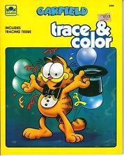 Vintage Garfield Trace & Color Book~Unused~(1988)