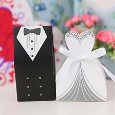 20 BRIDE AND GROOM WEDDING FAVOR BOXES Bridal Shower Gift Candy Box #ST4