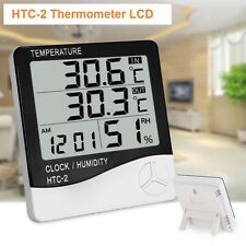 Estacion Meteorologica Termometro Higrometro Humedad Reloj Alarma HTC-2 Digital