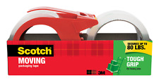 Scotch Tough Grip Moving Packaging Tape, 1.88 in. x 54.6 yd., 1 Dispenser and 1