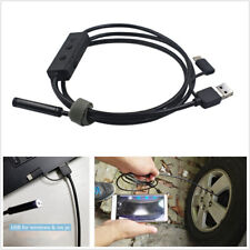 1X 5M Adjustable 8LED Vehicle Wifi&USB 720P Inspection Borescope Camera 8mm Lens