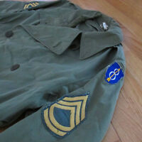 VINTAGE ORIGINAL US ARMY OFFICER REGULATION COAT 8th INFANTRY DIVISION SGT SZ 40