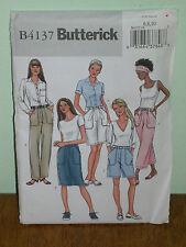 BUTTERICK PATTERN 4137 Sz 6-8-10 SKIRT SHORTS PANTS Semi-fitted, Straight Legged