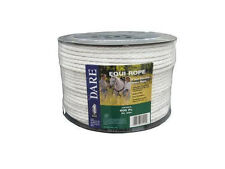 USA Dare White Equi-Rope Electric Horse Fence Braid 600ft Stronger than others!