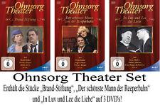 3 DVDs  * OHNSORG THEATER SET - DREI  NEUE THEATERSTÜCKE AUF DVD !  # NEU OVP ^