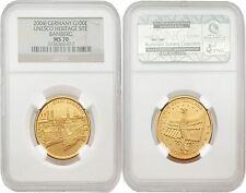 Germany 2004-J Unesco Heritage Site Bamberg 100 Euro Gold NGC MS-70