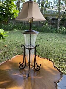 Glass with iron base Mexican Lamp
