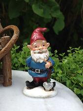Miniature Dollhouse FAIRY GARDEN Accessories ~ Small Gardener Gnome w Shovel NEW
