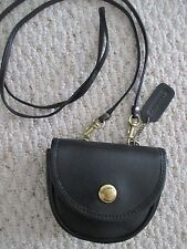 Vintage Coach Mini Belt Bag Pouch Crossbody Handbag Black Leather RARE