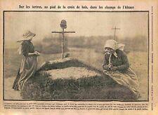 les Tertres Croix de Bois Tombes des Poilus Champs de l'Alsace Elsass WWI 1915