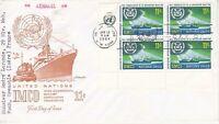 United Nations NY167 - Enveloppe 1er jour 1964 IMCO Navigation Maritime 11c