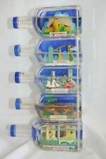 Lot of 5 Vintage Souvenir Snow Water Bottles - Dome - Globe - Hong Kong