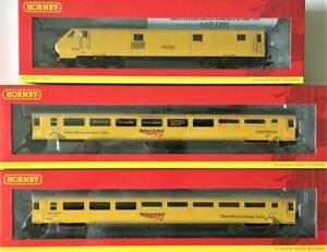 HORNBY Network Rail, Mk3 New Measurement Train Coaches & DVT. R4988,R4989,R4990