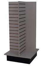 Slatwall Merchandiser Display Store Shelving Fixture Knockdown USA Made Gray NEW