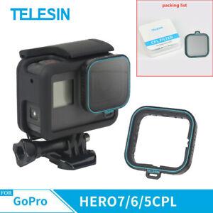 TELESIN Polarizing Filter Polarizer Lens Filter + Lens Cap for GoPro hero 7/6/5