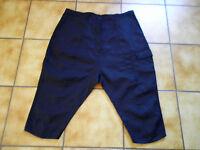 Rundholz black Label,3/4-7/8Hose,Gr.L,schwarz,lei.tief.Schritt,Leinen,Lagenlook