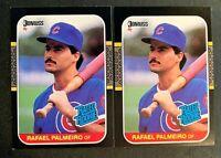 1987 Donruss #43 Rafel Palmeiro RC - Cubs (2)