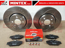 FOR CLIO SPORT 172 182 FRONT DRILLED & GROOVED BRAKE DISCS ABS PADS MINTEX