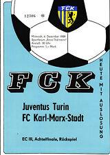 EC III 89/90 FC Karl-Marx-Stadt - Juventus Turin, 06.12.1989