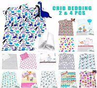 Baby Crib Bedding set optional 2/4pc pillow & duvet cover/ Quilt 70 x 80 cotton