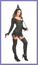 Dreamgirl WICKED WONDERFUL Adult Sexy WITCH Costume (L) Hat, Stockings, Wand NEW