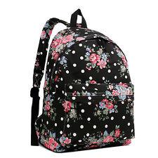 GIRLS BOYS RETRO BACKPACK SCHOOL RUCKSACK LAPTOP/TRAVEL/WORK BAG