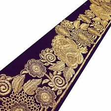 Dress Embellishment Fabric Trim Blue Border Lace  13.4 Cm Decorative Craft Suppl