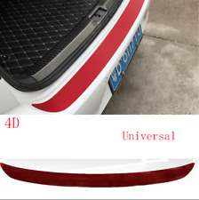 4x Auto Anti Scratch Decal Sticker+1x Car Rear Bumper Trunk Tail Lip Sticker Red