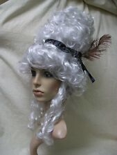 Ghost Town Ghostly Saloon Girl Wig Gray Beehive Queen Colonial Old West Madame
