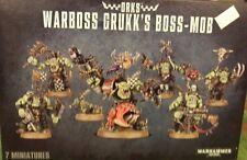 Warhammer 40K ORK WARBOSS GRUKK'S BOSS MOB (5x Nobs & 1x Warboss) New Sealed