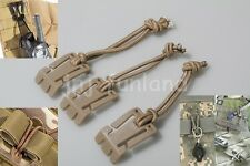 3 Pcs Military Web Dominator Elastic Cord Buckle Clip PALS / MOLLE Style Webbing
