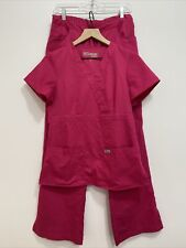 Grey's Anatomy Professional Wear By Barco Hot Pink Scrubs 2 Piece Womens Small