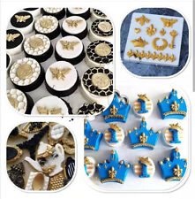 Vintage Relief Silicone Fondant Mold Cake Crown Key Chain Baking Border Mould UK